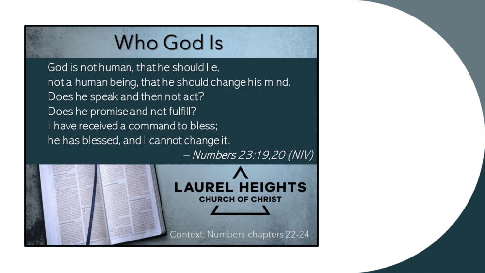 Who God Is Image