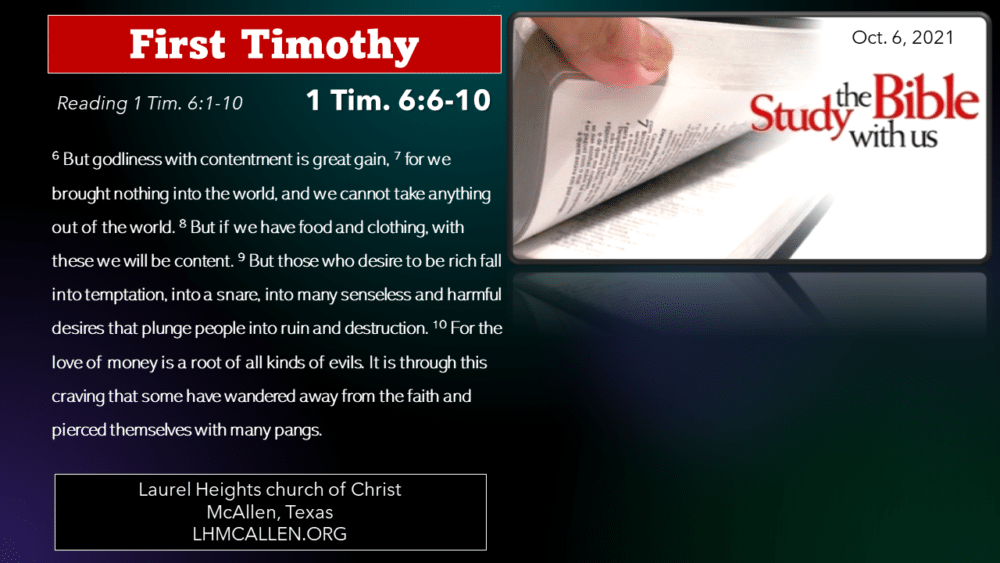 1 Tim for Oct. 6 Image